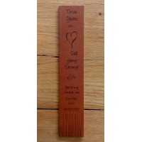 Personalised Leather Bookmarks  for 3rd Anniversary in our set designs