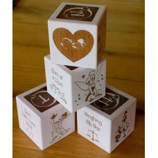 Personalised Engraved Coloured Baby Blocks