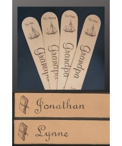 Leather Bookmark personalised with Names