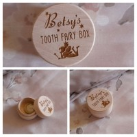 Tooth Fairy box personalised with Name