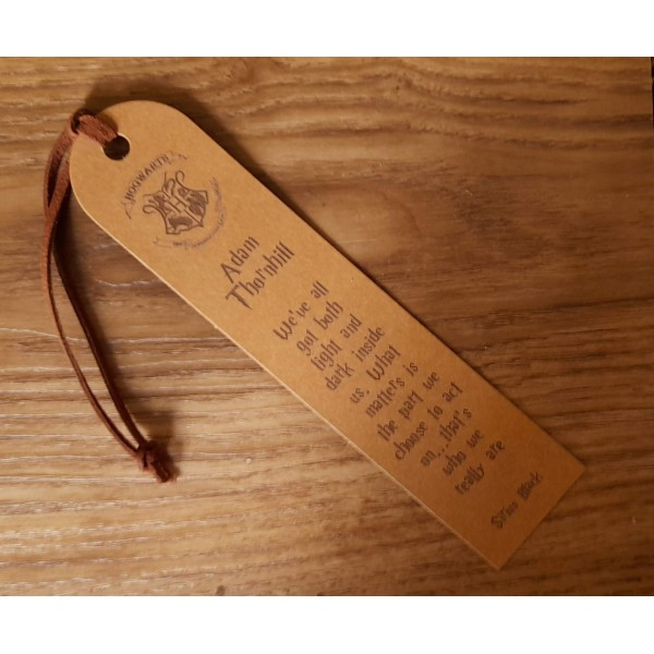 Faux Leather bookmarks personalised in your own ideas