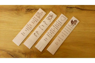 Personalised Leather Bookmarks