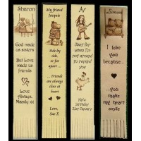 Leather Bookmarks personalised for all occasions