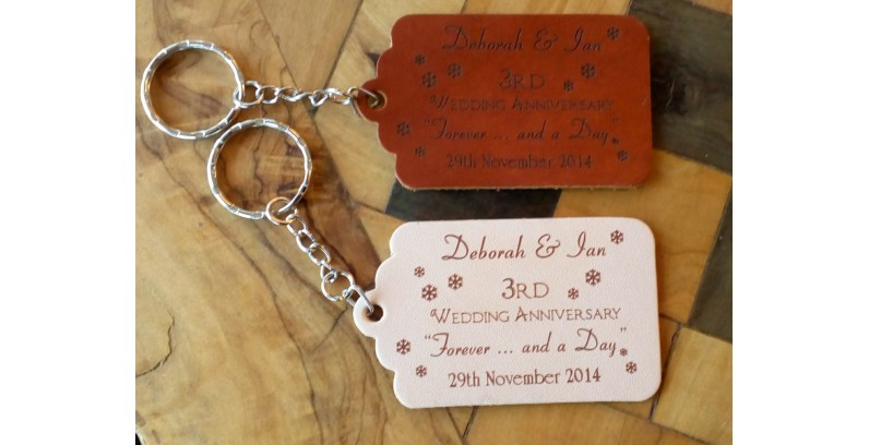 Leather Keyfobs & Tags for 3rd Leather Anniversary