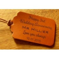 Personalised leather tags or keyrings - Set designs