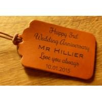 Personalised leather tags or keyrings - Set designs