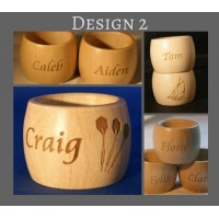 Napkin Rings engraved and personalised