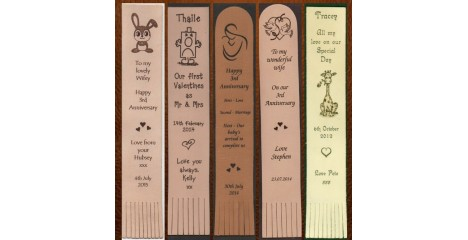 Personalised Leather Bookmarks for any Occasion