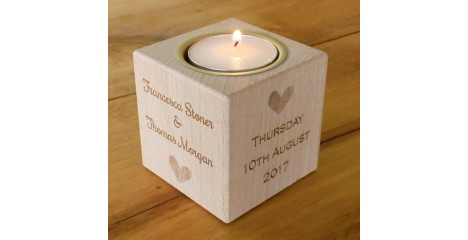 Tealight Holders - Wedding or Anniversary Gifts