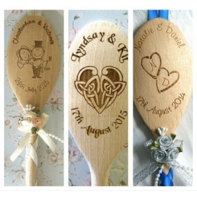 Engraved Wedding Spoon - Personalised