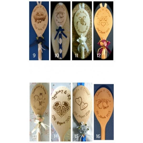 Engraved Wedding Spoon - Personalised