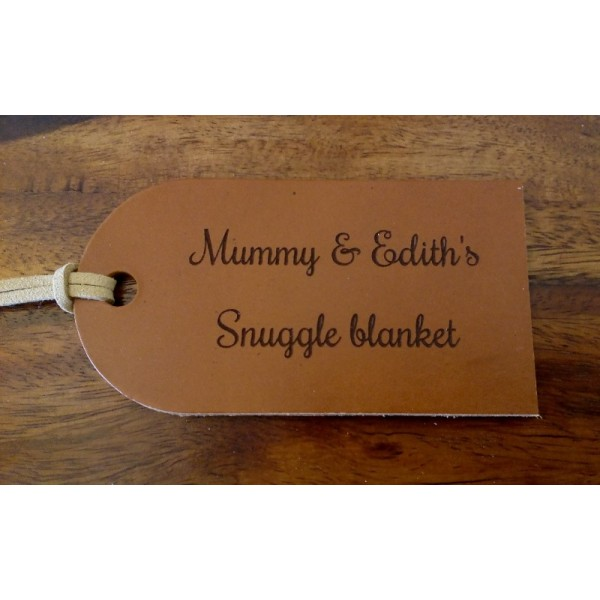 Large Personalised Leather Tags