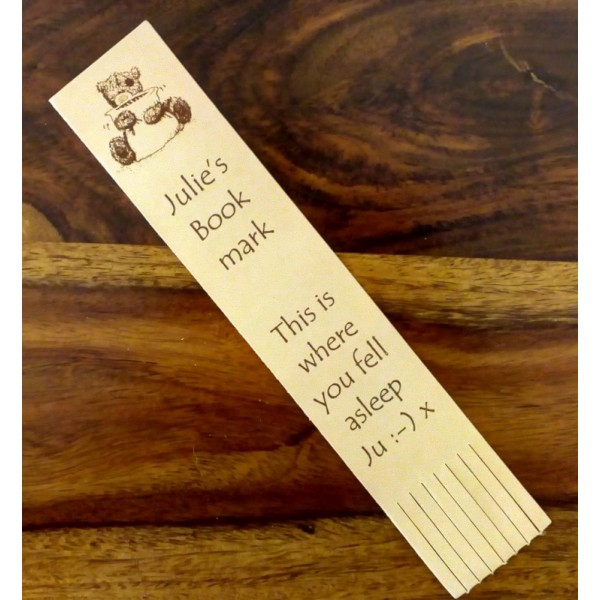 Leather Bookmark with fringe - Personalised for any occasion