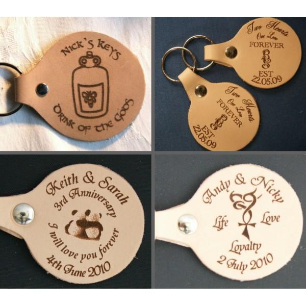 Leather Keyrings - Personalised