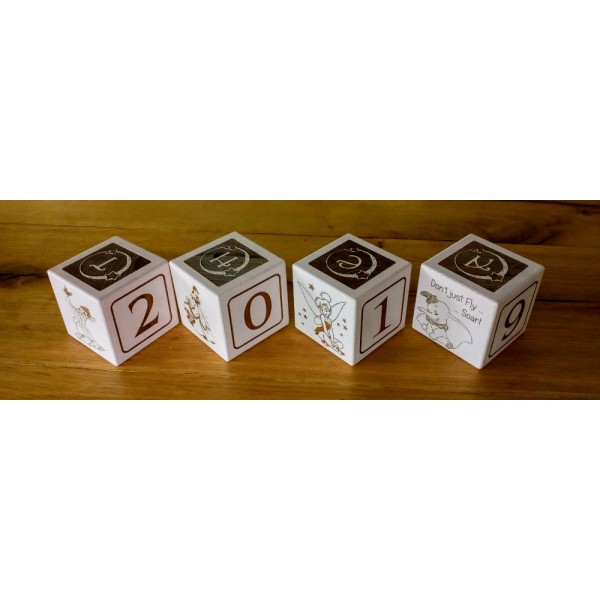 Personalised Engraved Coloured Baby Blocks