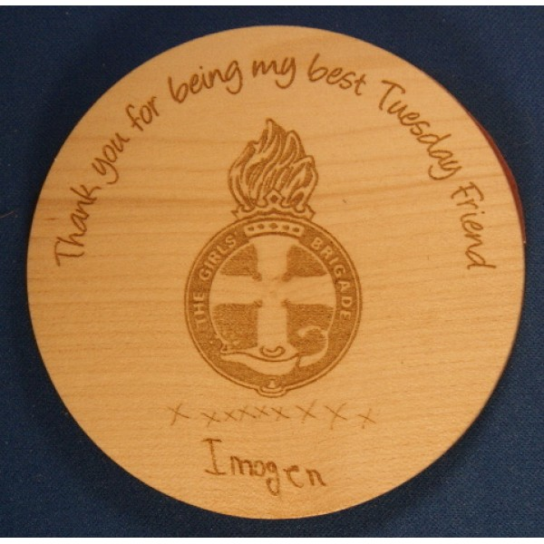 Wooden Coaster - Teacher Gift