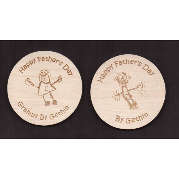 Wooden Coasters - Engraved and Personalised