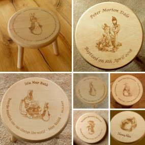 Wooden Stool  -  Peter Rabbit