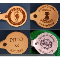 Leather Keyrings - Personalised