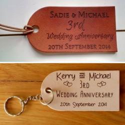 Personalised Leather Tags or Keyrings