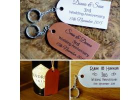 Leather Tags or Keyrings