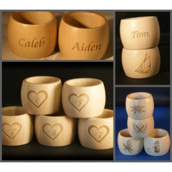 Personalised Napkin Rings - Wooden