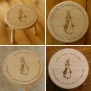 Wooden Stool  -  Peter Rabbit