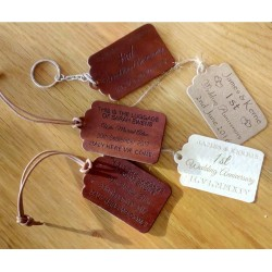 Personalised leather Key fobs and Tags and Keyrings