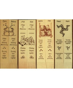 Personalised Twin Leather Bookmarks