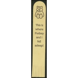 Leather Bookmark - Personalised with This is Where I Fell asleep