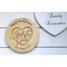 Wooden Coaster - Anniversary Gift