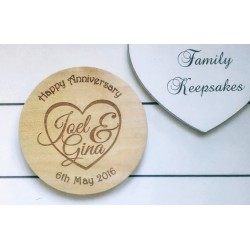 Wooden Coaster - Anniversary Gift