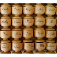 Personalised wooden egg cups - Wedding Favours