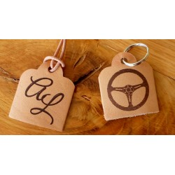 Small Leather Tags or Keyrings