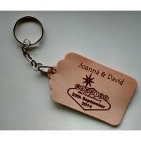 Leather Tag or Keyring - Las Vegas