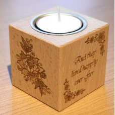Tealight Holder - Solid Wood