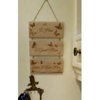 Wall Hanger - 3 plaques