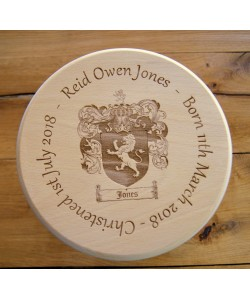 Wooden stool - Coat of Arms