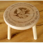 Personalised Child's Wooden Stool - Fairy Designs
