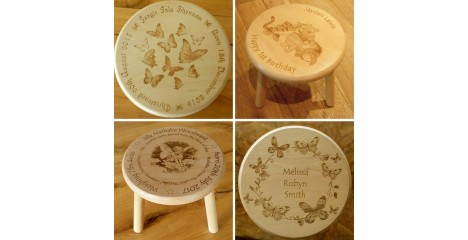 Personalised Wooden Stools