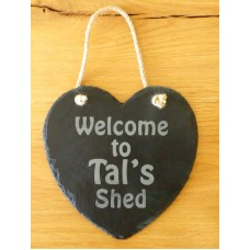 Slate Heart Hanger - Personalised