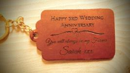 Leather Tags & Keyrings in set designs