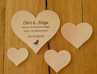 Personalised Leather Hearts